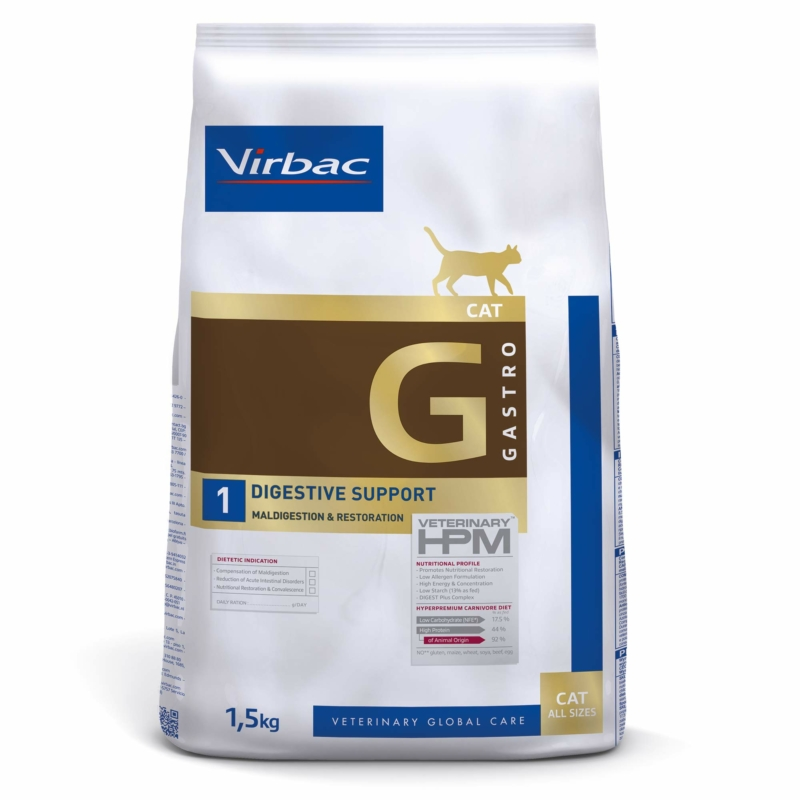 Virbac HPM Diet Cat Digestive Support 1,5 kg