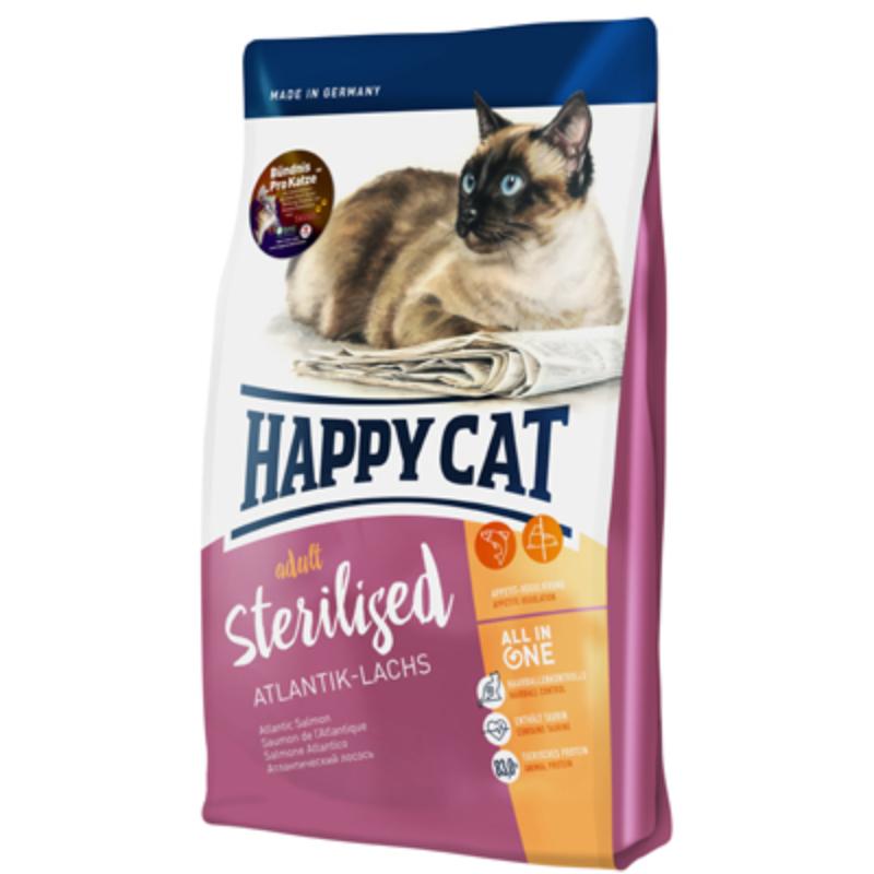 Happy Cat Supreme Adult Sterilised - Lazac 300 g