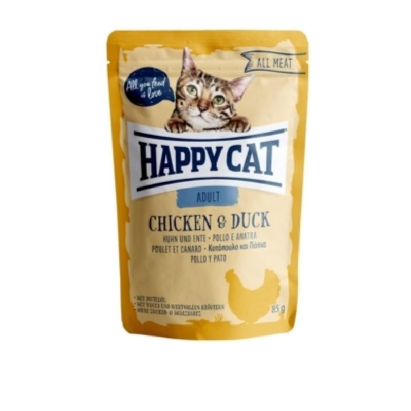 Happy Cat All Meat Adult alutasakos 85 g - Csirke, kacsa