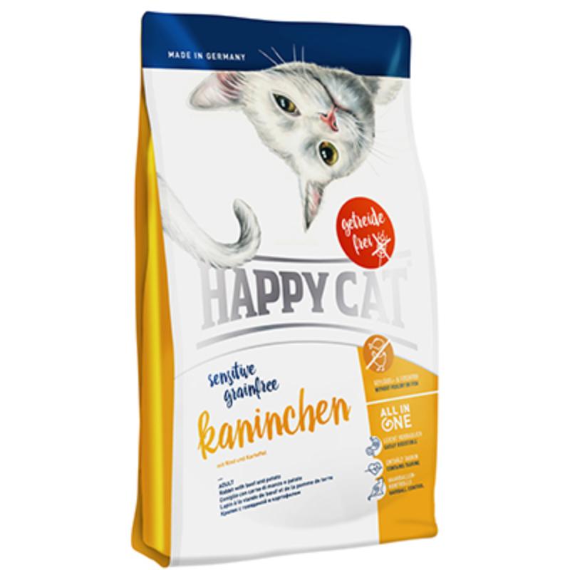 Happy Cat Supreme Sensitive -  Gabonamentes, Nyúl 300 g