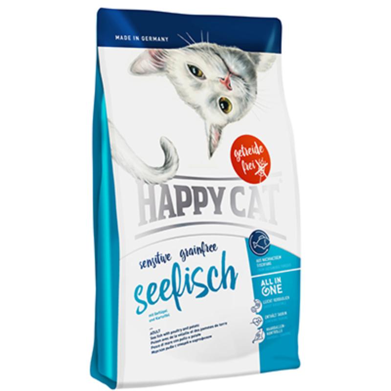 Happy Cat Supreme Sensitive - Gabonamentes, Tengeri hal 300 g