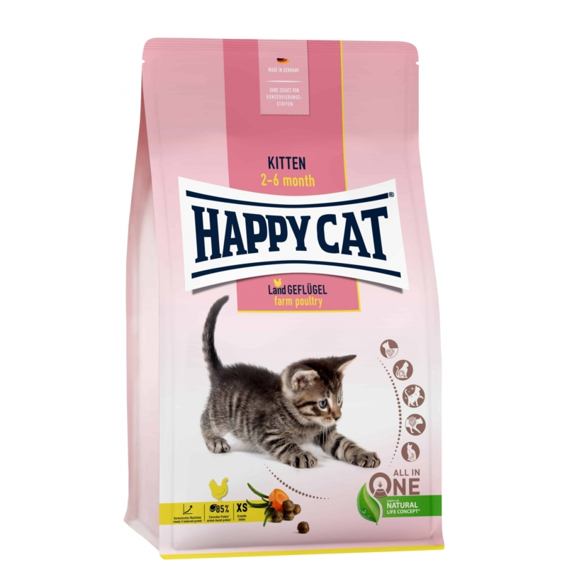 Happy Cat Kitten - Baromfi 300 g