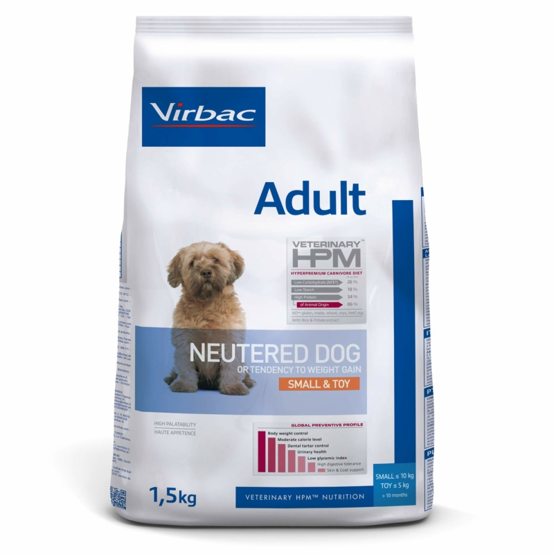 Virbac HPM Adult Neutered Dog Small & Toy 1,5 kg