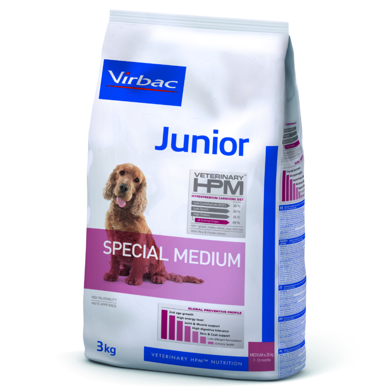 Virbac HPM Junior Dog Special Medium 3 kg
