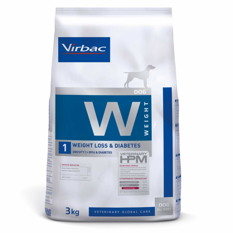Virbac HPM Diet Dog Weight 1 Loss & Diabetes 3 kg