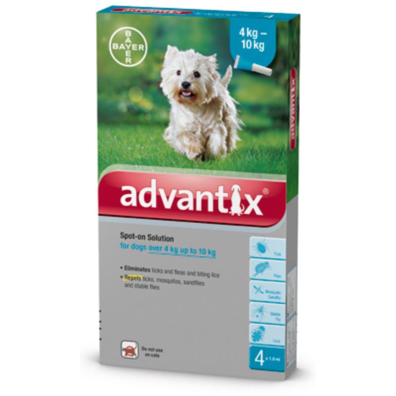 Advantix Spot-On 4-10 kg 4x