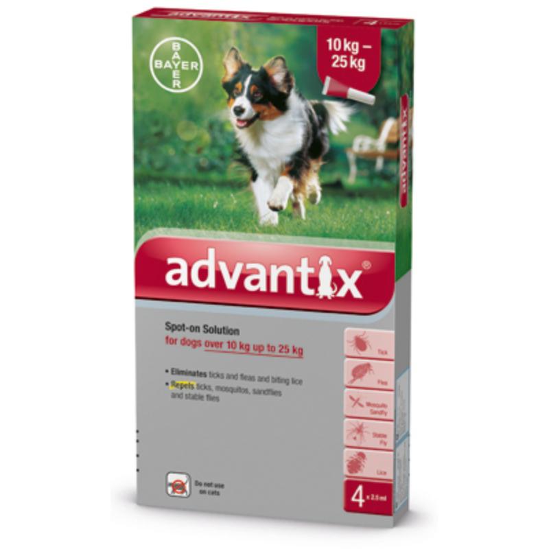 Advantix Spot-On 10-25 kg 4x